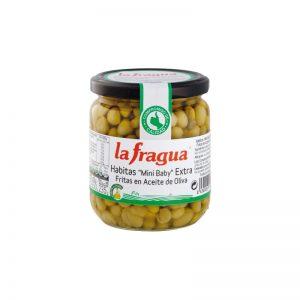 Habitas Mini Baby Fritas en Aceite de Oliva, Calidad Extra