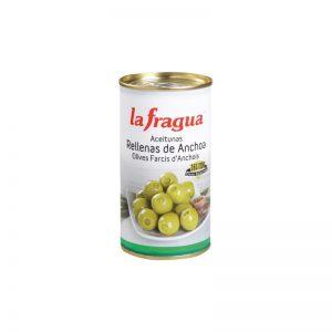 Aceitunas Rellenas de Anchoa. Variedad Manzanilla, Calibre 161-200, Calidad Primera