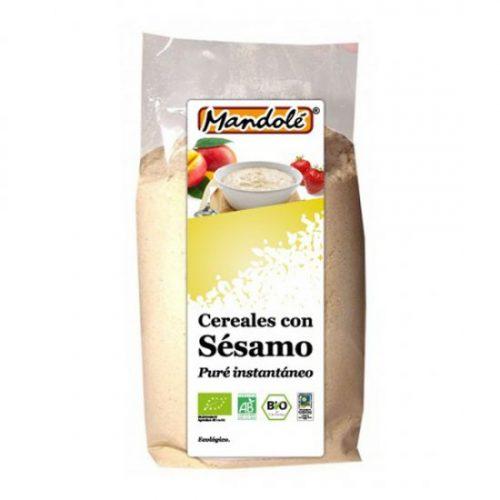 MANDOLE – PAPILLA CEREALES CON SESAMO BIO 300g