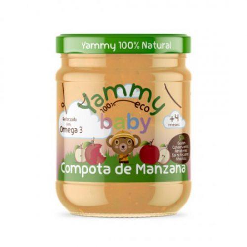 YAMMY – POTITO COMPOTA MANZANA BIO 195g