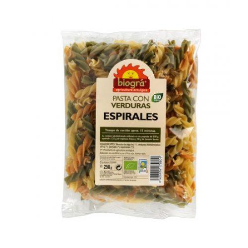BIOGRA – ESPIRALES CON VERDURAS BIO 250g