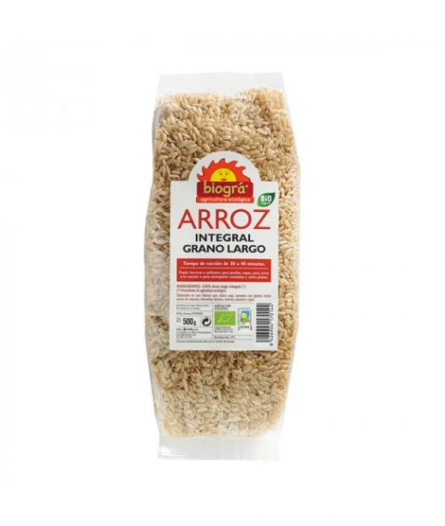 BIOGRA – ARROZ INTEGRAL LARGO BIO 500g (COCCION RAPIDA)