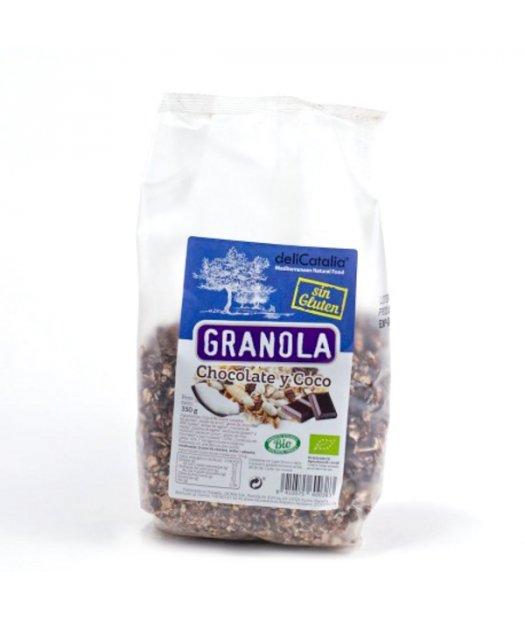 DELICATALIA – GRANOLA CHOCOLATE Y COCO BIO 350g (SIN GLUTEN)