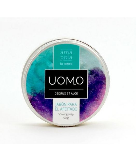 AMAPOLA UOMO – JABON AFEITADO BIO 50ml (HOMBRE)
